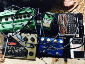 Pile of Guitar Pedals